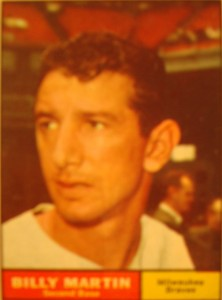 MLB - Original Baseball Card 1961 NY Yankees 2B Billy Martin