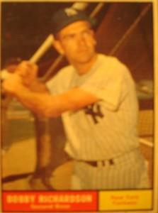 MLB - Original Baseball Card 1961 NY Yankees 2B Bobby Richardson