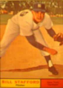 MLB - Original Baseball Card 1961 NY Yankees P Bill Stafford