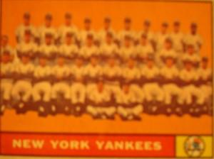 MLB - Original Baseball Card 1961 World Series Champions New York Yankees Team