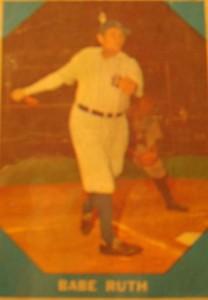 MLB - Original Baseball Card 1961 remake of NY Yankees Babe Ruth's 1928 card.