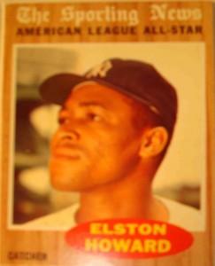 MLB - Original Baseball Card 1962 NY Yankees C Elston Howard as The Sporting News AL All Star