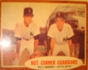MLB - Original Baseball Card 1962 NY Yankees Hot Corner 3B Billy Gardner and 3B Clete Boyer