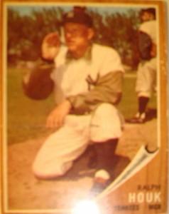 MLB - Original Baseball Card 1962 NY Yankees Mgr Ralph Houk