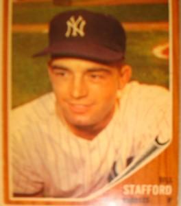 MLB - Original Baseball Card 1962 NY Yankees P Bill Stafford