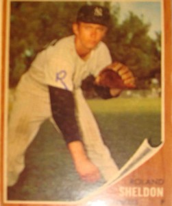 MLB - Original Baseball Card 1962 NY Yankees Rookie Pitcher Roland Sheldon