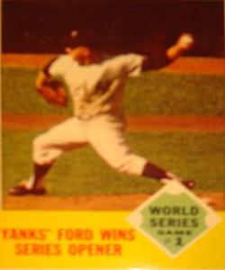 MLB - Original Baseball Card 1962 World Series NY Yankees P Whitey Ford winning Game 1