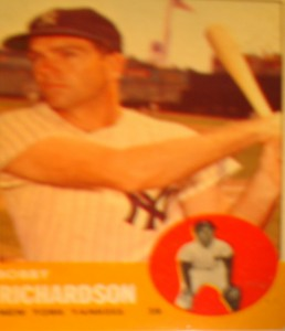 MLB - Original Baseball Card 1963 NY Yankees 2B Bobby Richardson