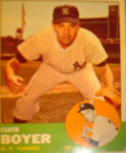 MLB - Original Baseball Card 1963 NY Yankees 3B Clete Boyer