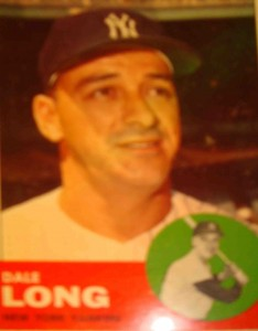 MLB - Original Baseball Card 1963 NY Yankees INF Dale Long