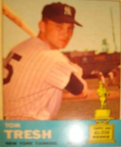MLB - Original Baseball Card 1963 NY Yankees LF Tom Tresh