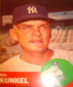 MLB - Original Baseball Card 1963 NY Yankees P Bill Kunkel