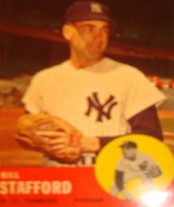 MLB - Original Baseball Card 1963 NY Yankees P Bill Stafford