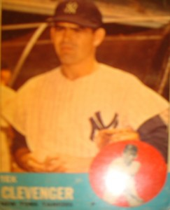MLB - Original Baseball Card 1963 NY Yankees P Tex Clevenger