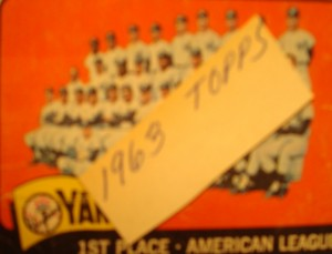 MLB - Original Baseball Card 1963 New York Yankees Team