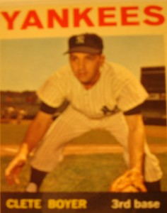 MLB - Original Baseball Card 1964 New York Yankees 3B Clete Boyer