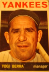 MLB - Original Baseball Card 1964 New York Yankees Manager Yogi Berra