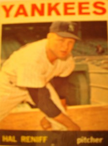 MLB - Original Baseball Card 1964 New York Yankees P Hal Reniff