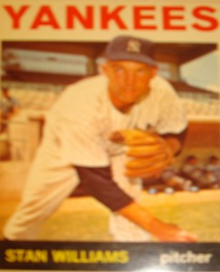 MLB - Original Baseball Card 1964 New York Yankees P Stan Williams
