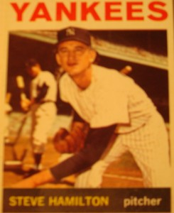 MLB - Original Baseball Card 1964 New York Yankees P Steve Hamilton
