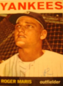 MLB - Original Baseball Card 1964 New York Yankees RF Roger Maris