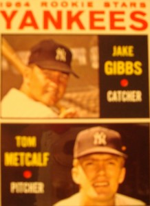 MLB - Original Baseball Card 1964 New York Yankees Rookie Stars C Jake Gibbs & P Tom Mefcalf