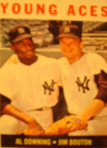MLB - Original Baseball Card 1964 New York Yankees Young Aces Pitchers Al Downing & Jim Bouton