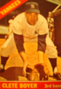 MLB - Original Baseball Card 1966 New York Yankees 3B Clete Boyer