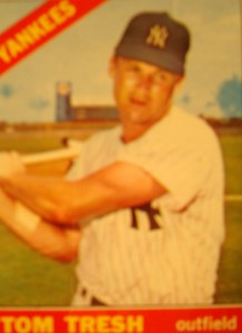 MLB - Original Baseball Card 1966 New York Yankees OF Tom Tresh
