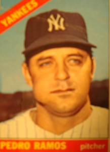 MLB - Original Baseball Card 1966 New York Yankees P Pedro Ramos