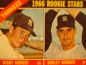 MLB - Original Baseball Card 1966 New York Yankees Rookie Stars SS Bobby Murcer & P Dooley Womack