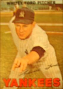 MLB - Original Baseball Card 1967 New York Yankees Hall of Fame P Whitey Ford