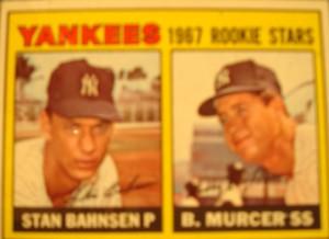 MLB - Original Baseball Card 1967 New York Yankees Rookie Stars P Stan Bahnsen & SS Bobby Murcer