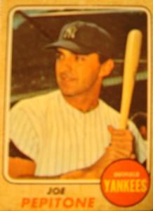 MLB - Original Baseball Card 1968 New York Yankees 1B Joe Pepitone