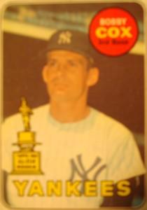 MLB - Original Baseball Card 1969 New York Yankees All Star 3B Bobby Cox