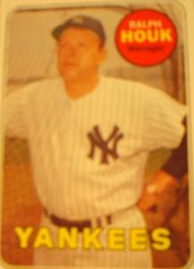 MLB - Original Baseball Card 1969 New York Yankees Hall of Fame Manager Ralph Houk