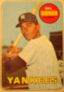 MLB - Original Baseball Card 1969 New York Yankees OF Bill Robinson