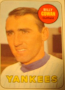 MLB - Original Baseball Card 1969 New York Yankees OF Billy Cowan