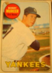 MLB - Original Baseball Card 1969 New York Yankees OF Bobby Murcer