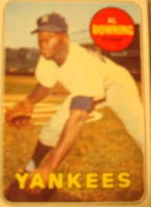 MLB - Original Baseball Card 1969 New York Yankees P Al Downing