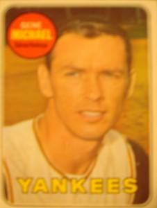 MLB - Original Baseball Card 1969 New York Yankees SS Gene Michaels