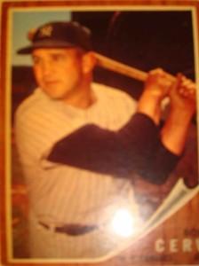MLB - Original Topps Baseball Card 1962 NY Yankees OF Bob Cerv