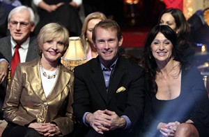 "DANCING WITH THE STARS THE RESULTS SHOW - ""Episode 509A"" -- The ninth couple to be eliminated from the competition is revealed on ""Dancing with the Stars the Results Show,"" TUESDAY, NOVEMBER 20 (9:00-10:02 p.m., ET) on the ABC Television Network.  (ABC/CAROL KAELSON) FLORENCE HENDERSON, BART CONNER, NADIA COMANECI"