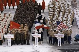Photo of Olympics – 1980 Lake Placid – Closing Ceremony – Host Jim McKay