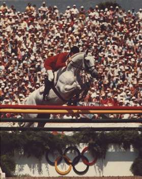 Photo of Olympics – 1984 Los Angeles – Equestrian Show Jumping Set-Up & Souvenir Vendors Profile