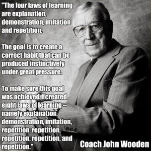 music education, john wooden, online music lessons, live music tutor, practicing your instrument