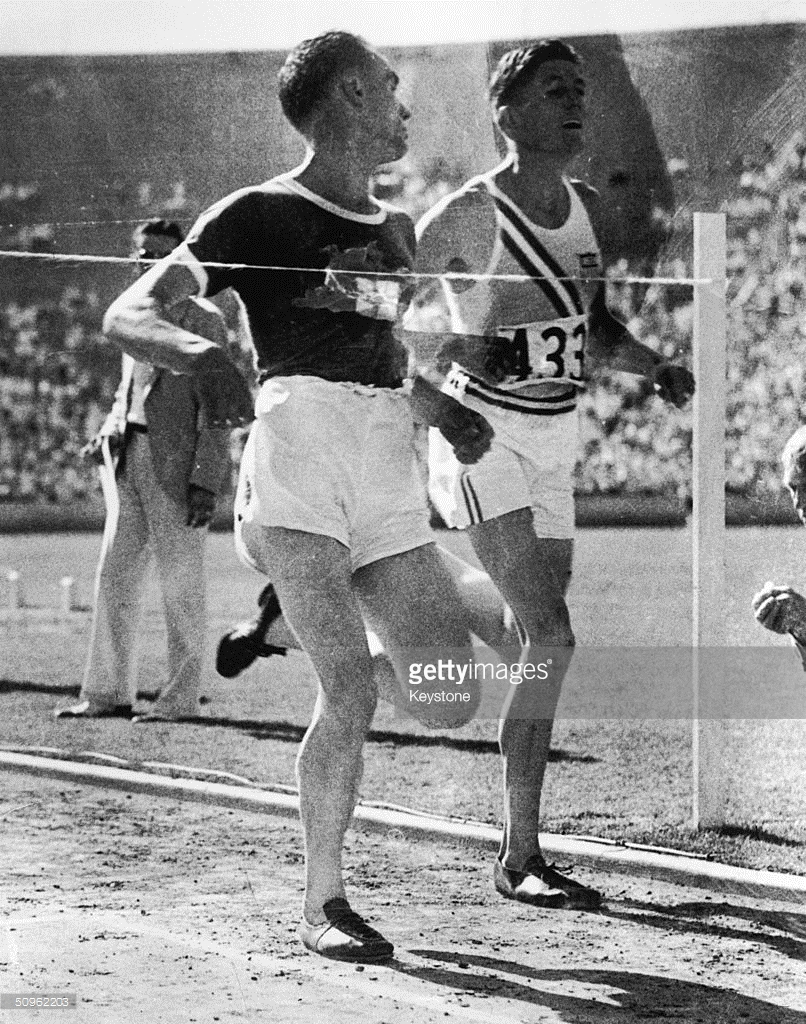 Photo of Olympics – 1932 Los Angeles – Track Mens 5000m – FIN Lauri Lehtinen & USA Ralph Hill
