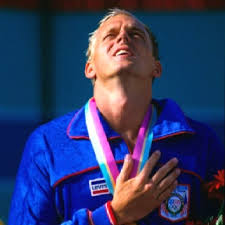 Photo of Olympics – 1984 Los Angeles – Mens Swimming 100m Freestyle – USA Rowdy Gaines
