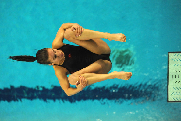 Photo of Olympics – 1984 Los Angeles – Diving – Womens 3m Springboard – CHN Li Yihua & CAN Debbie Fuller