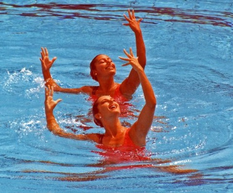 Photo of Olympics – 1984 Los Angeles – Syncronized Swimming – Duet Finals – GBR Holmyard & Wilson